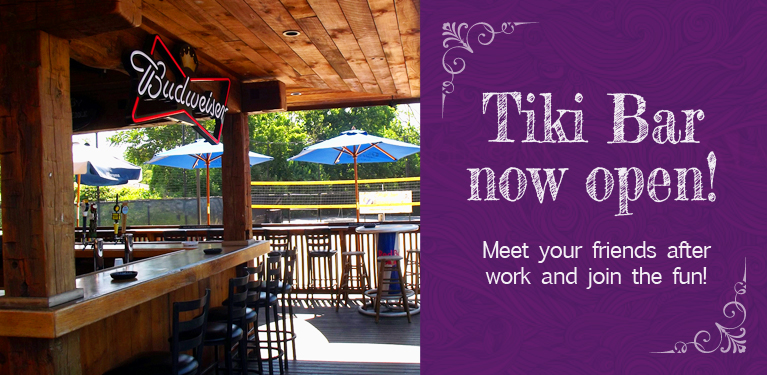Tiki Bar now open!