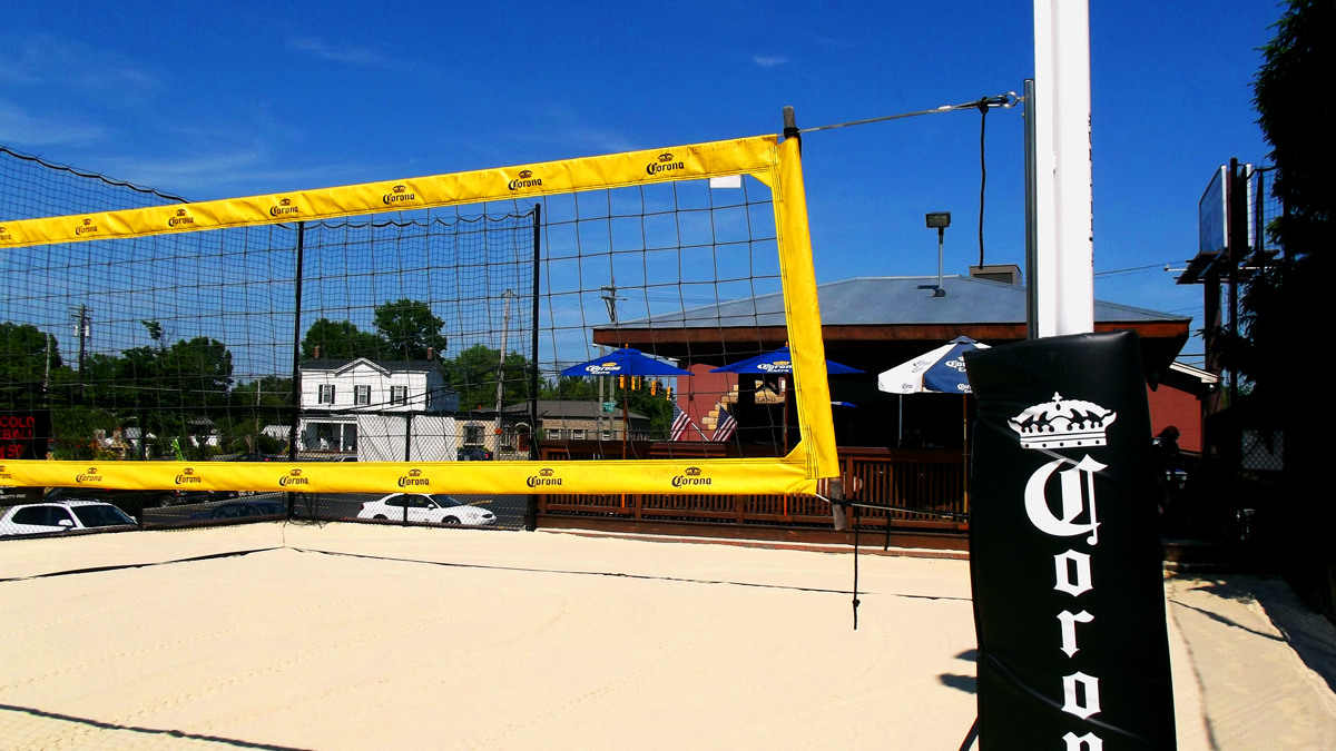 Knotty Pine Volleyball Court