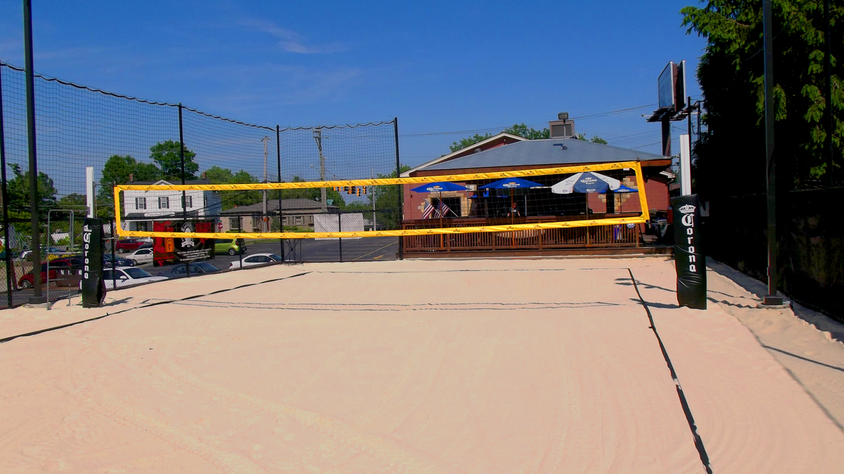 We have one of the nicest sand volleyball courts in town.